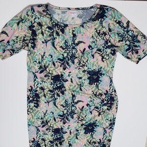 Multi color Floral Shift Dress 2X